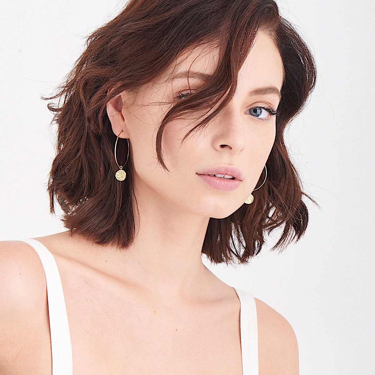 Ania Haie Gold Boreas Hoop Earrings Model Shot | More Than Just at Gift | Narborough Hall