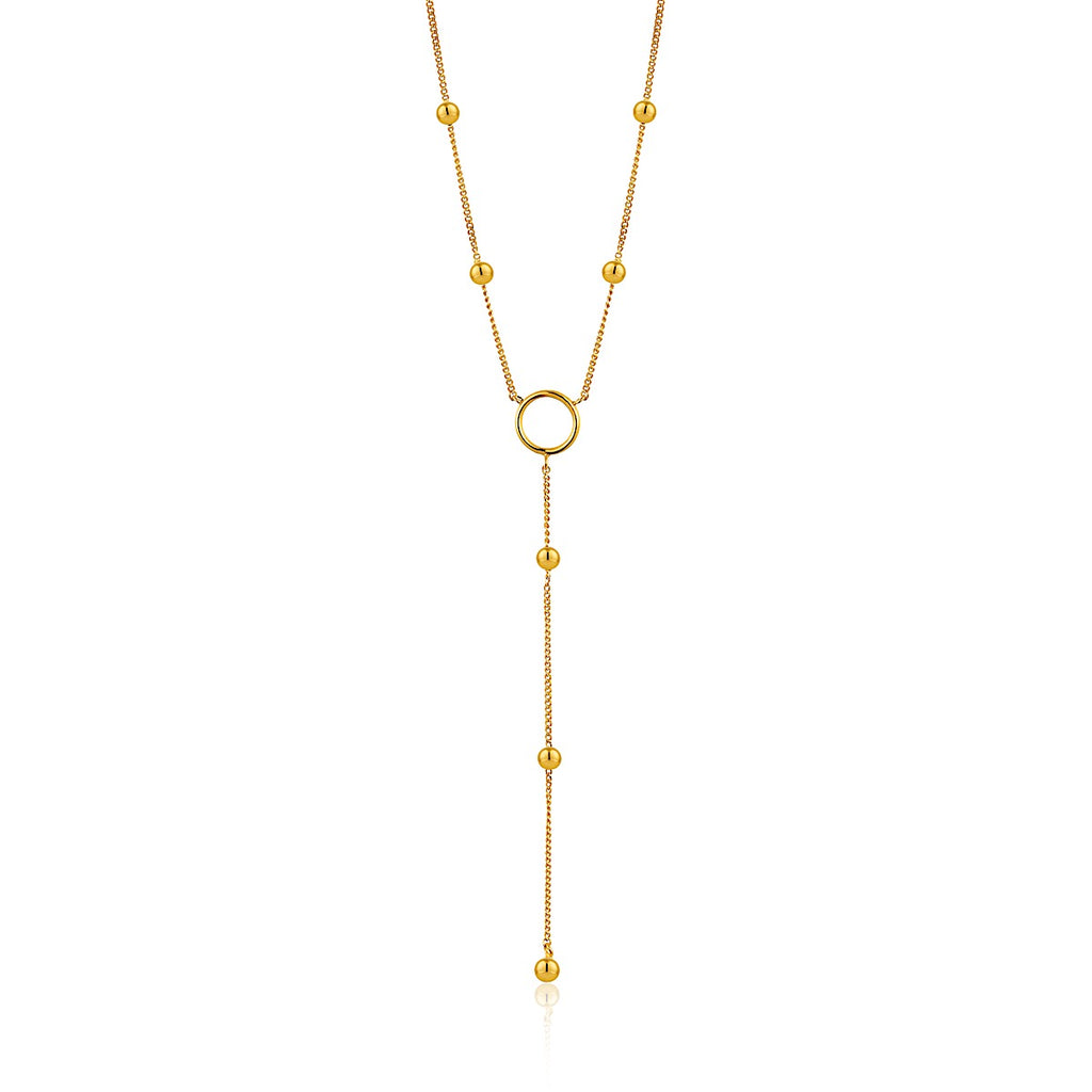 Ania Haie Gold Modern Circle Y Necklace | More Than Just at Gift | Narborough Hall