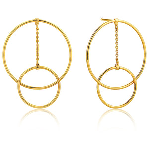 Ania Haie Gold Modern Front Earrings