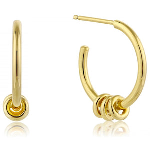 Ania Haie Gold Modern Hoop Earrings