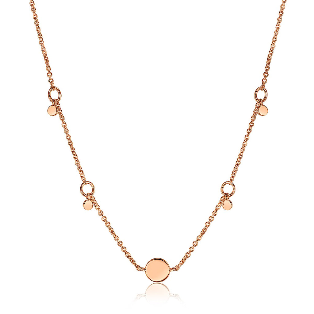 Ania Haie Rose Gold Geometry Drop Discs Necklace | More Than Just at Gift | Narborough Hall