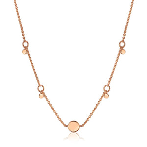 Ania Haie Rose Gold Geometry Drop Discs Necklace