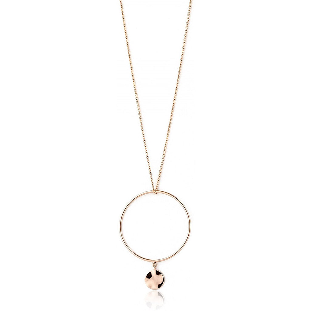 Ania Haie Rose Gold Ripple Circle Necklace | More Than Just at Gift | Narborough Hall