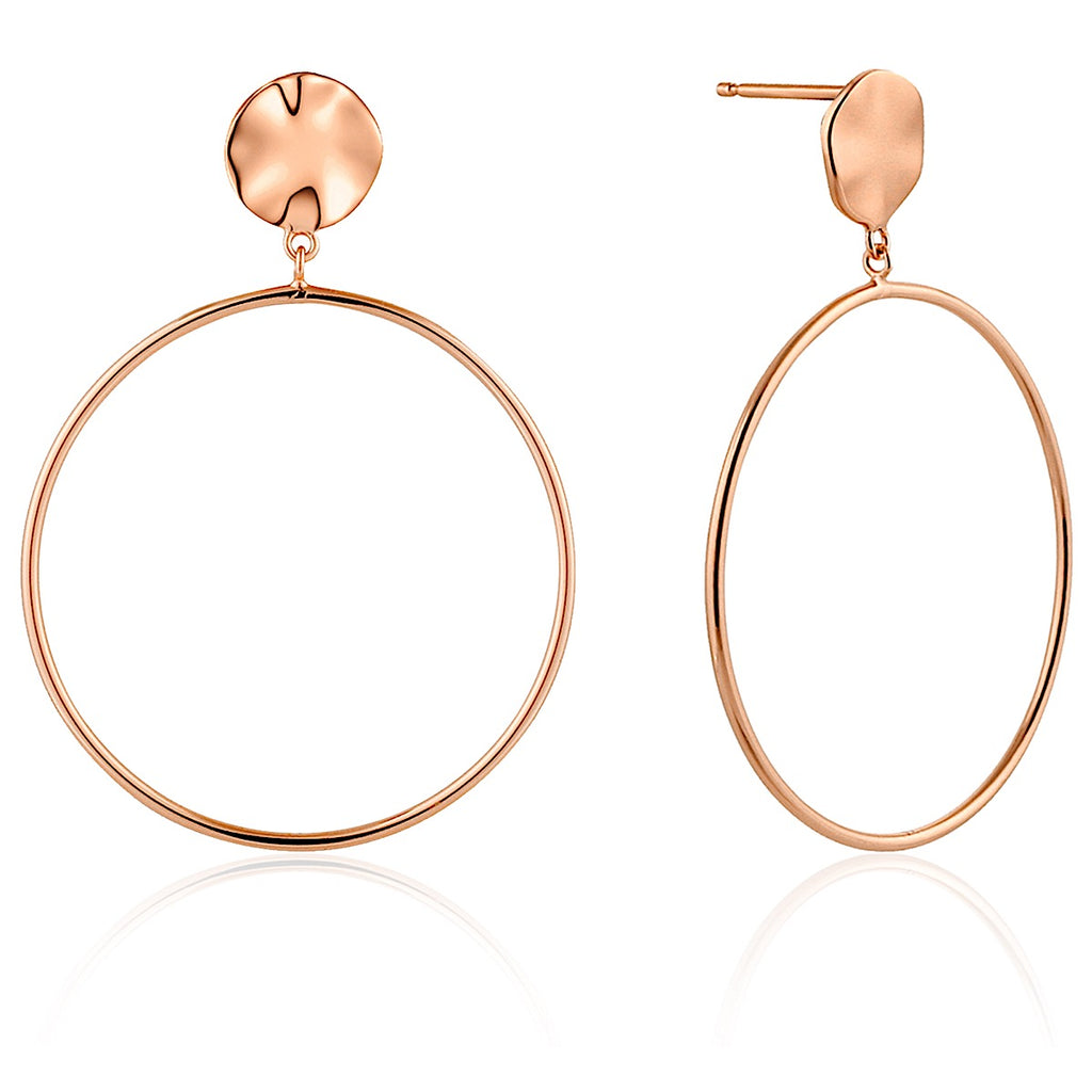 Ania Haie Rose Gold Ripple Front Hoop Earrings | More Than Just at Gift | Narborough Hall