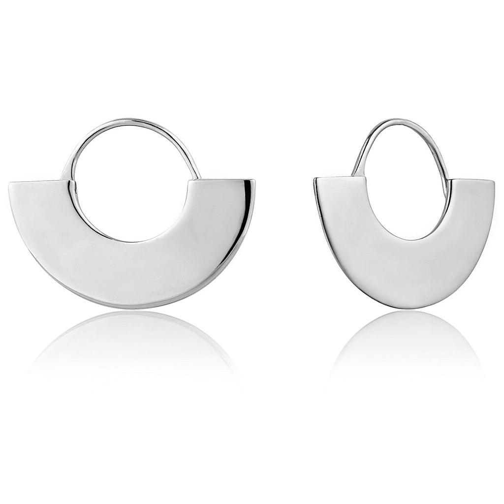Ania Haie Silver Geometry Fan Hoop Earrings | More Than Just at Gift | Narborough Hall