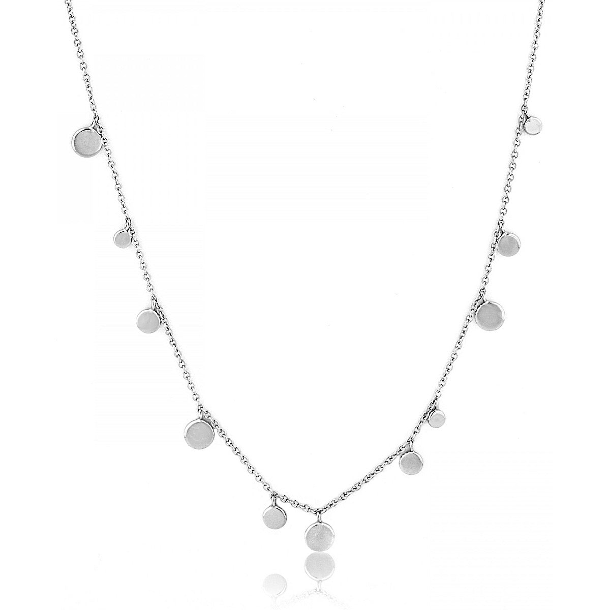 Ania Haie Silver Geometry Mixed Discs Necklace | More Than Just at Gift | Narborough Hall