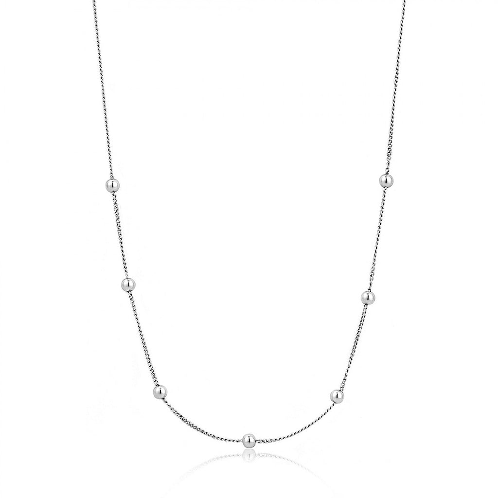 Ania Haie Silver Modern Beaded Necklace