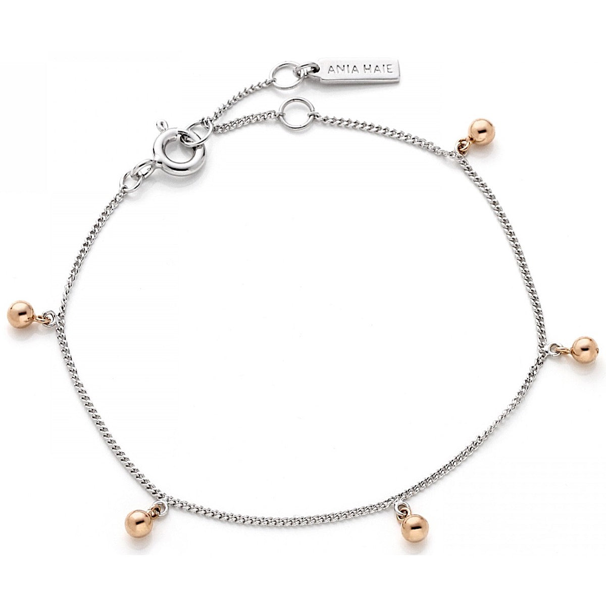Ania Haie Silver/Rose Gold Orbit Drop Balls Bracelet | More Than Just at Gift | Narborough Hall