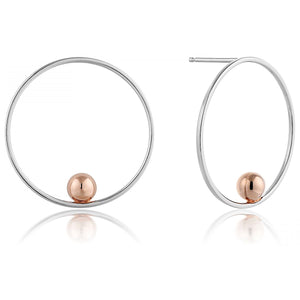 Ania Haie Silver/Rose Gold Orbit Front Hoop Earrings | More Than Just at Gift | Narborough Hall