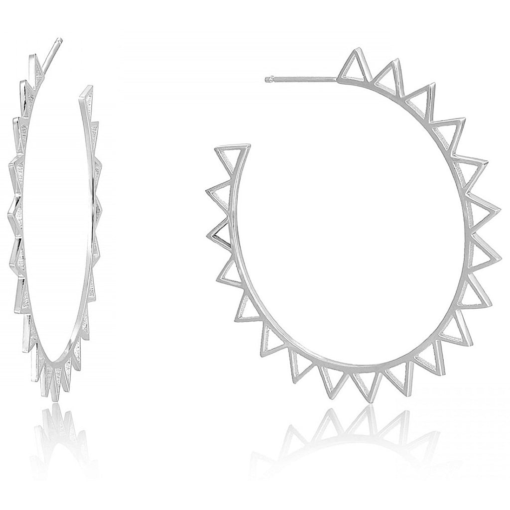 Ania Haie Silver Spike Hoop Earrings | More Than Just at Gift | Narborough Hall
