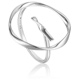 Ania Haie Silver Twist Circle Adjustable Ring