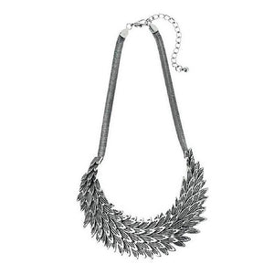 Antiqued Silver Feather Necklace | More Than Just at Gift | Narborough Hall