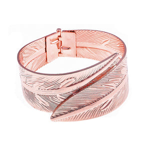 Leaf Opening Bangle Rose Gold | More Than Just at Gift | Narborough Hall