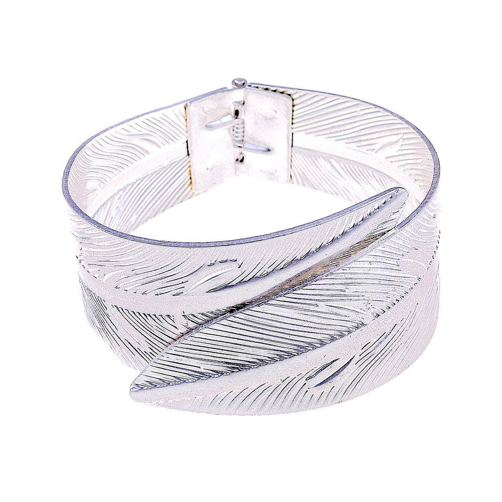 Leaf Opening Bangle Silver | More Than Just at Gift | Narborough Hall