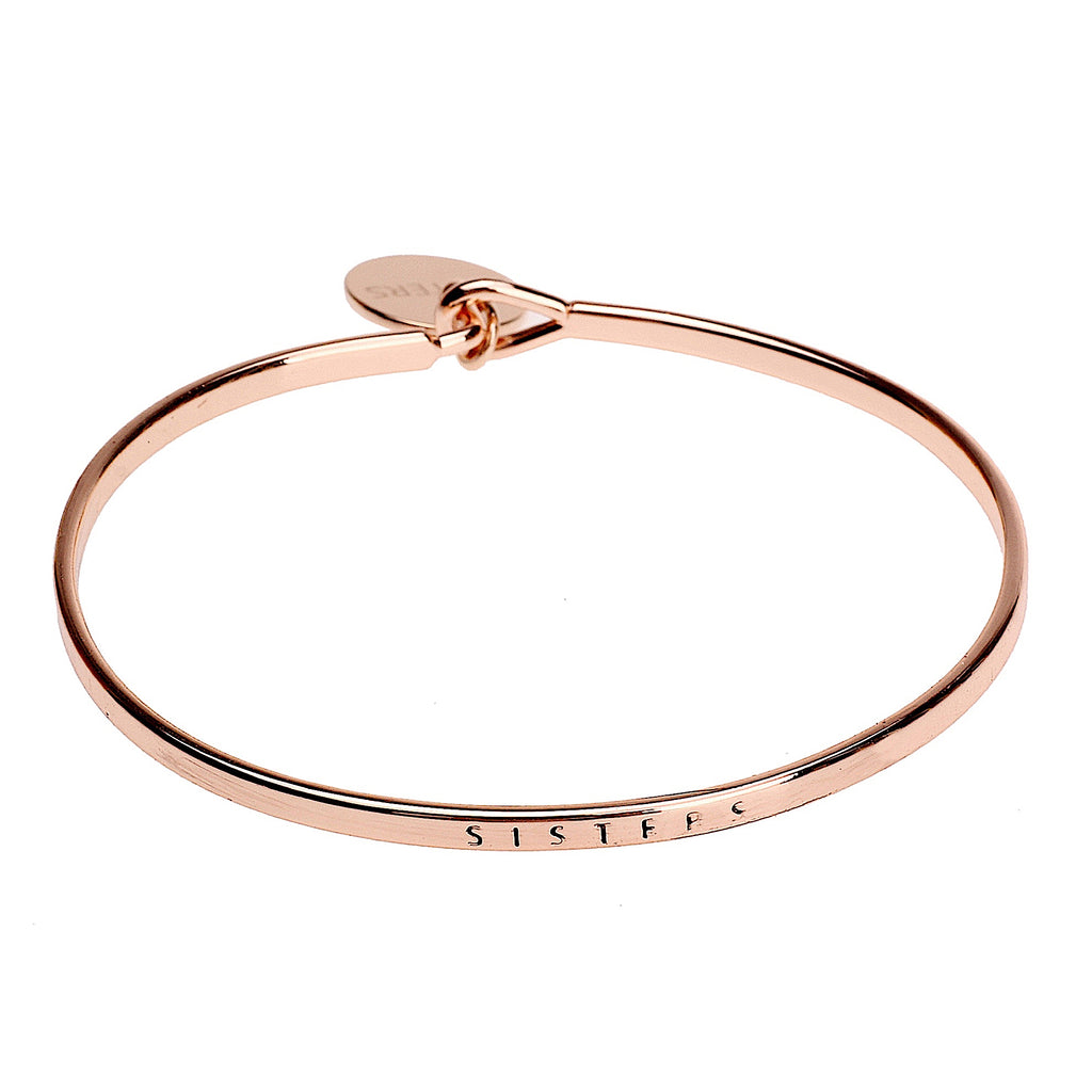 Sister Sentiment Disc Copper Bangle - Rose Gold | More Than Just at Gift | Narborough Hall