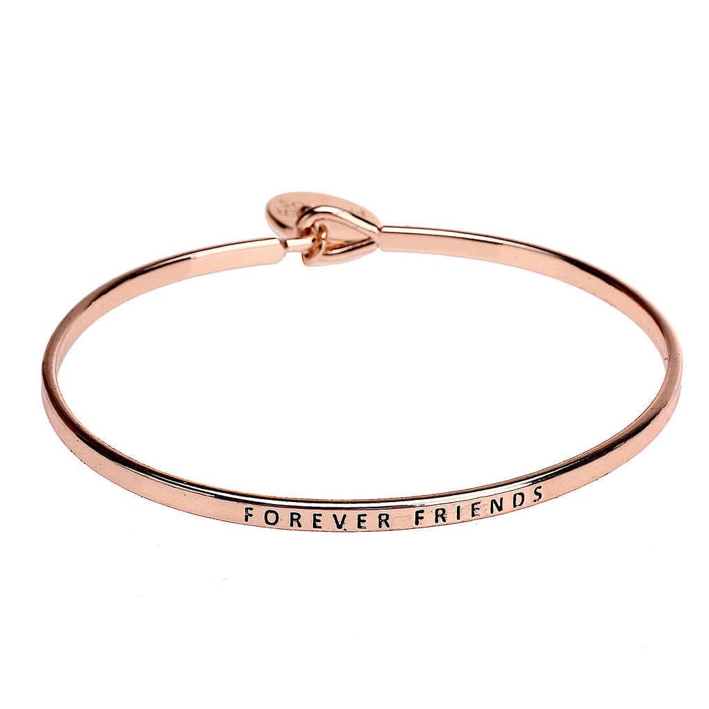 Forever Friends Sentiment Disc Copper Bangle - Rose Gold | More Than Just at Gift | Narborough Hall