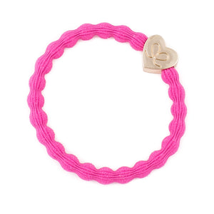 Fuchsia/Heart Bangle Band