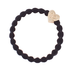 Black/Heart Bangle Band