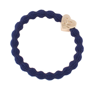 Navy/Heart Bangle Band