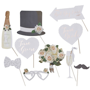 Beautiful Botanicals Wedding Photo Booth Props | More Than Just at Gift | Narborough Hall