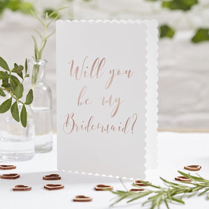 Beautiful Botanicals Will You Be My Bridesmaid Cards - Narborough Hall