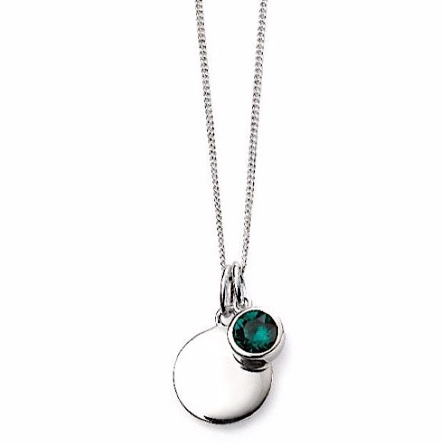 Beginnings May Birthstone Pendant Necklace | More Than Just at Gift | Narborough Hall
