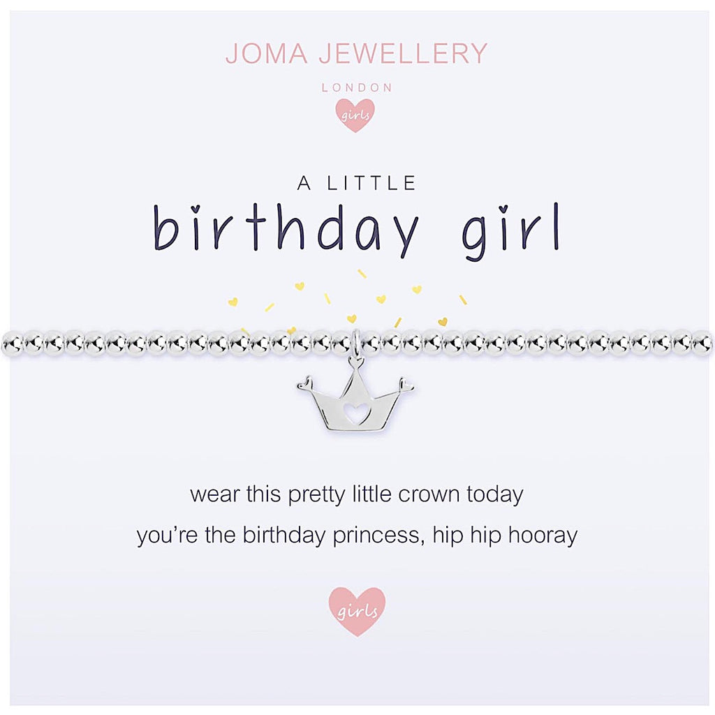 Joma Girls a little Birthday Girl Bracelet - crown