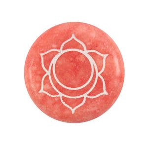 Orange Sacral Chakra Symbol Meditation Stone