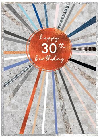 Cobalt - Happy 30th Birthday Card