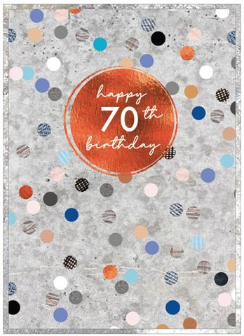 Cobalt - Happy 70th Birthday Card