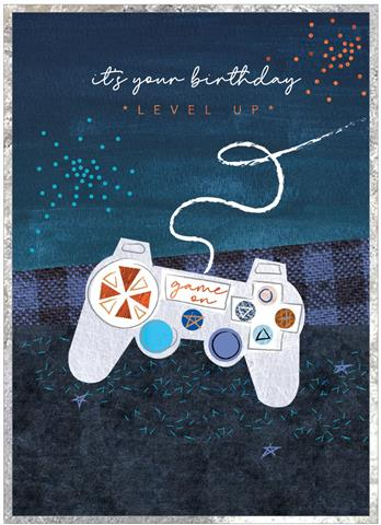 Cobalt - Level Up Birthday Card
