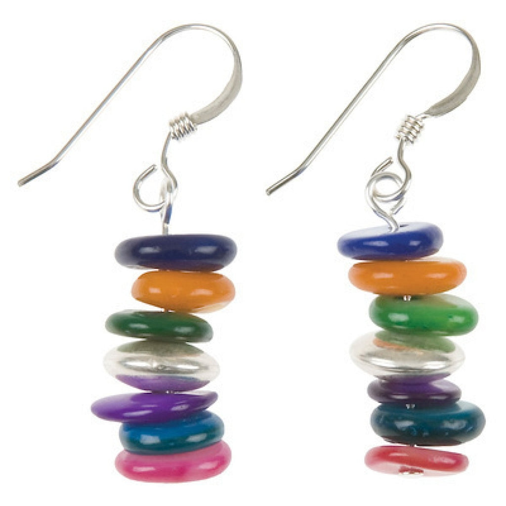Rainbow Shell Links Earrings - Narborough Hall