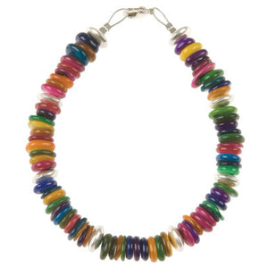 Carrie Elspeth Rainbow Shell Links Bracelet