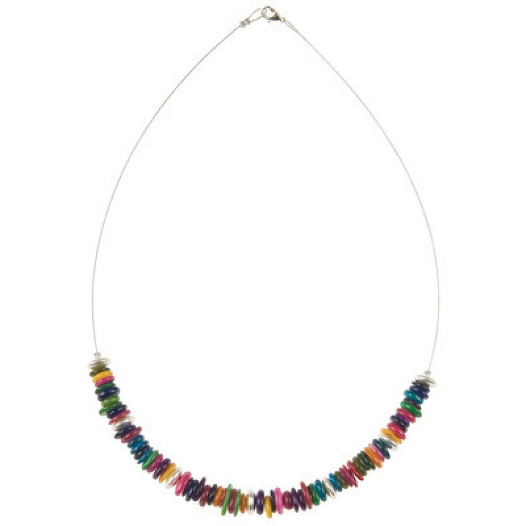 Carrie Elspeth Rainbow Shell Links Necklace