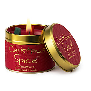 Lily-flame Christmas Spice Candle Tin