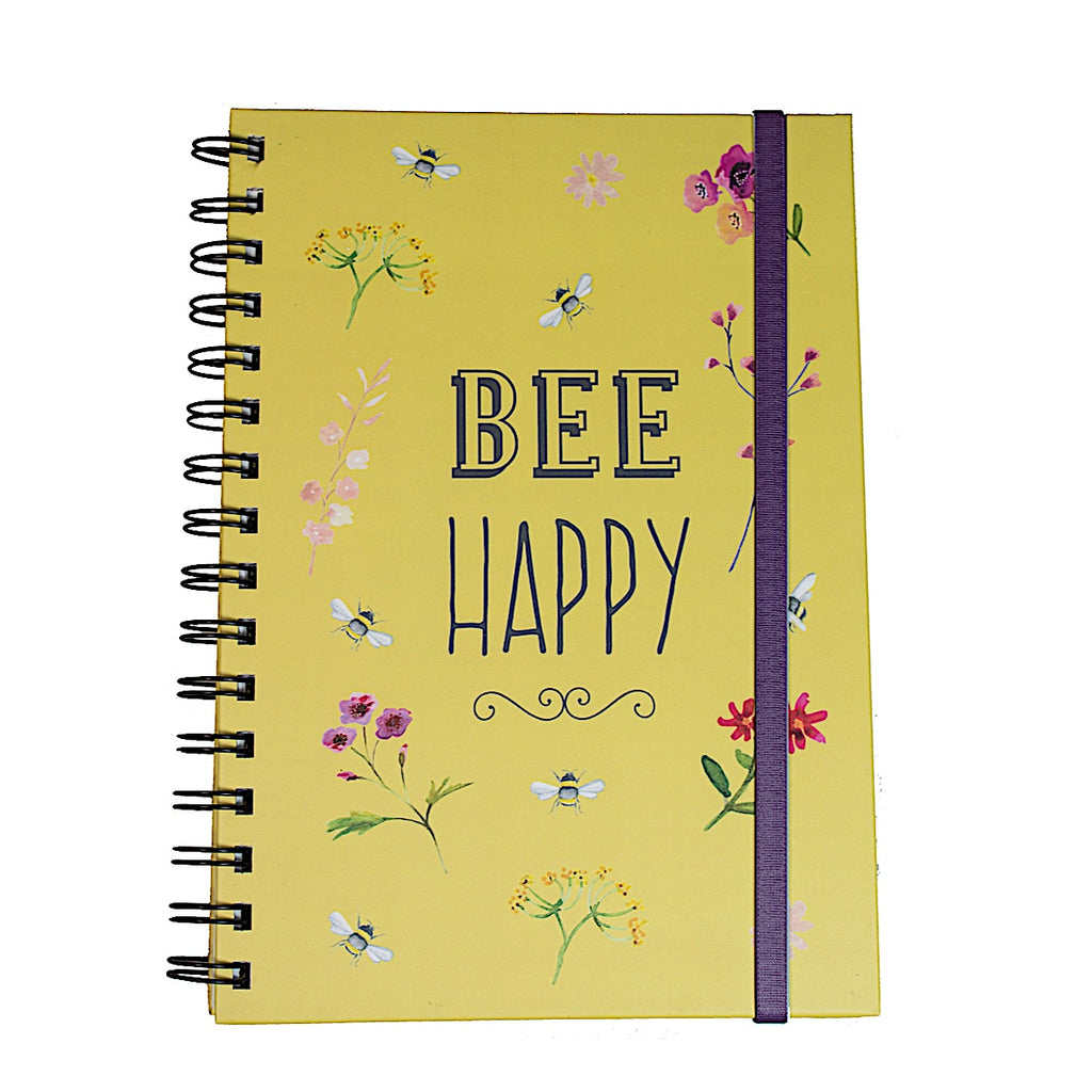 Bee Happy Notebook Yellow