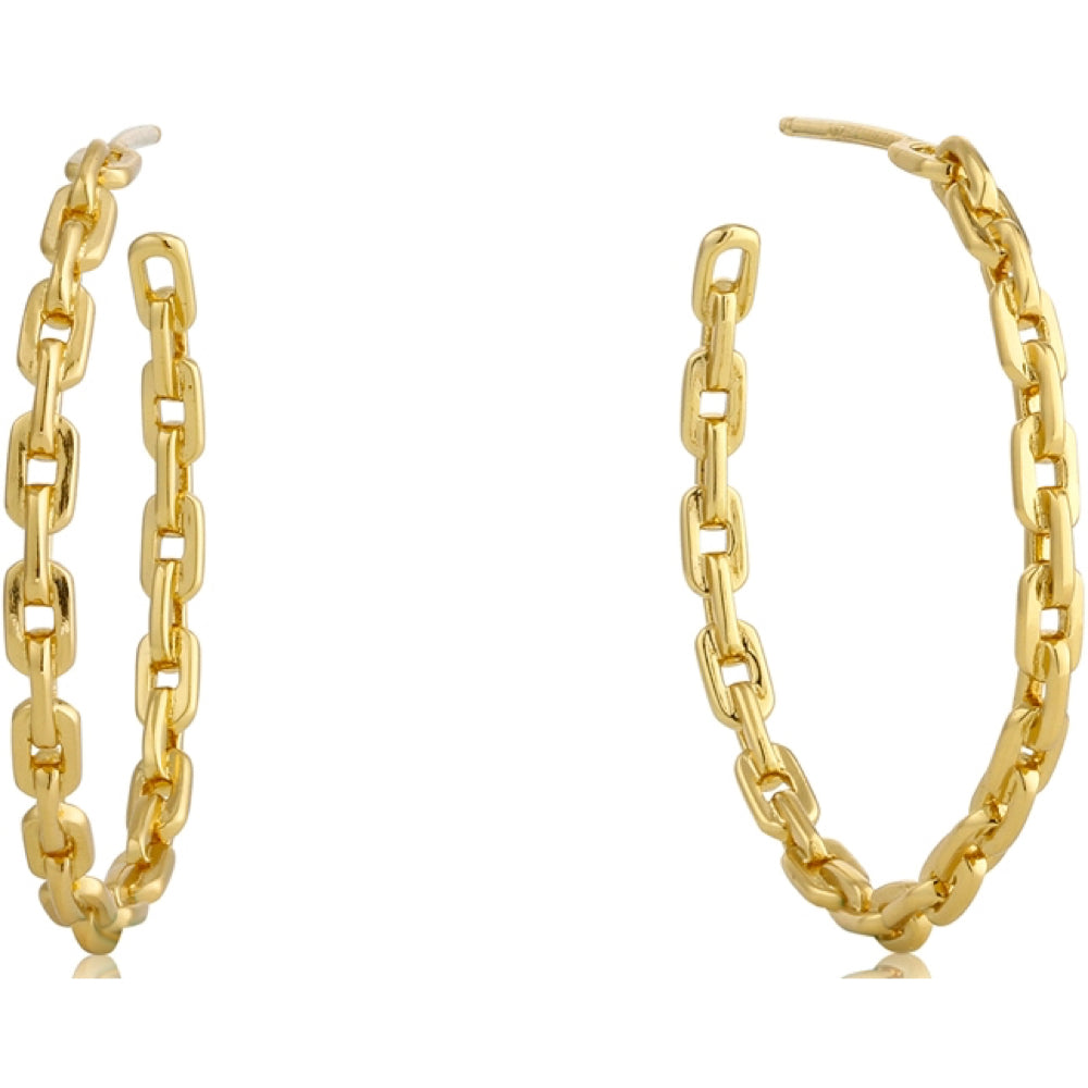 Ania Haie Gold Chain Hoop Earrings | More Than Just A Gift