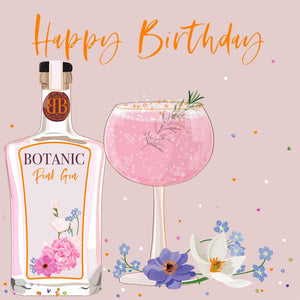 Elle Happy Birthday Gin Card