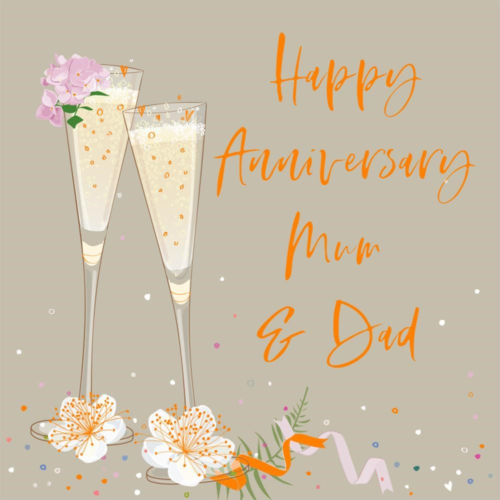 Elle Happy Anniversary Mum and Dad Card