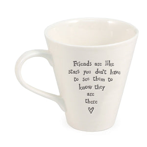 Porcelain Mug - Friends Are Like Stars | More Than Just at Gift | Narborough Hall