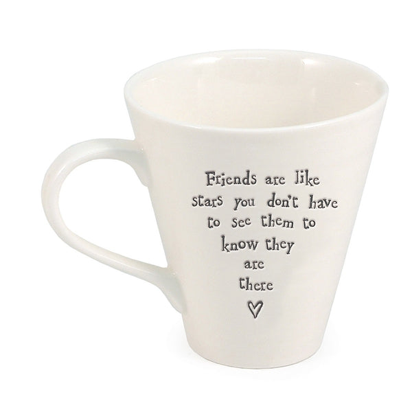 Porcelain Mug - Friends Are Like Stars - Narborough Hall