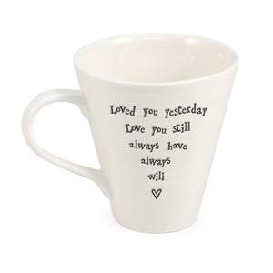 Porcelain Mug - Loved You Yesterday - Narborough Hall