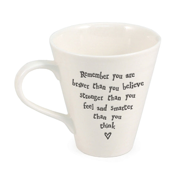 Porcelain Mug - Remember You Are Braver Than You Believe - Narborough Hall