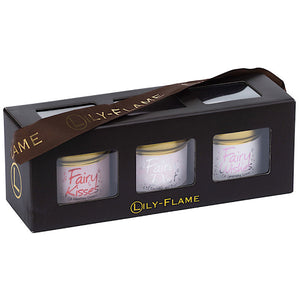 Lily-flame Fairy Mini Candle Tins Trio
