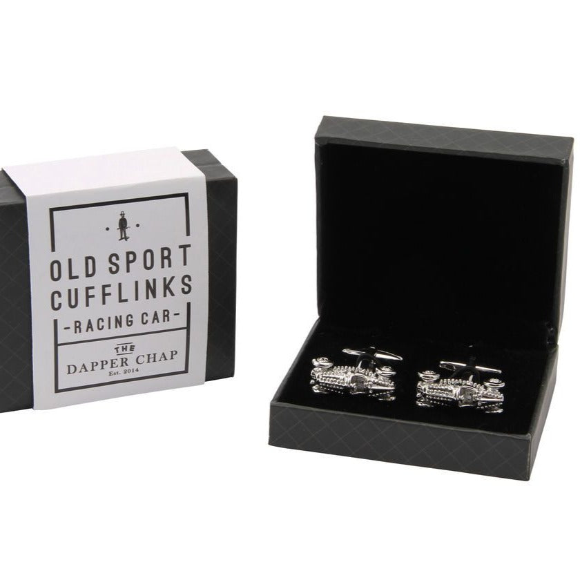 Dapper Chap Racing Car Old Sport Cufflinks