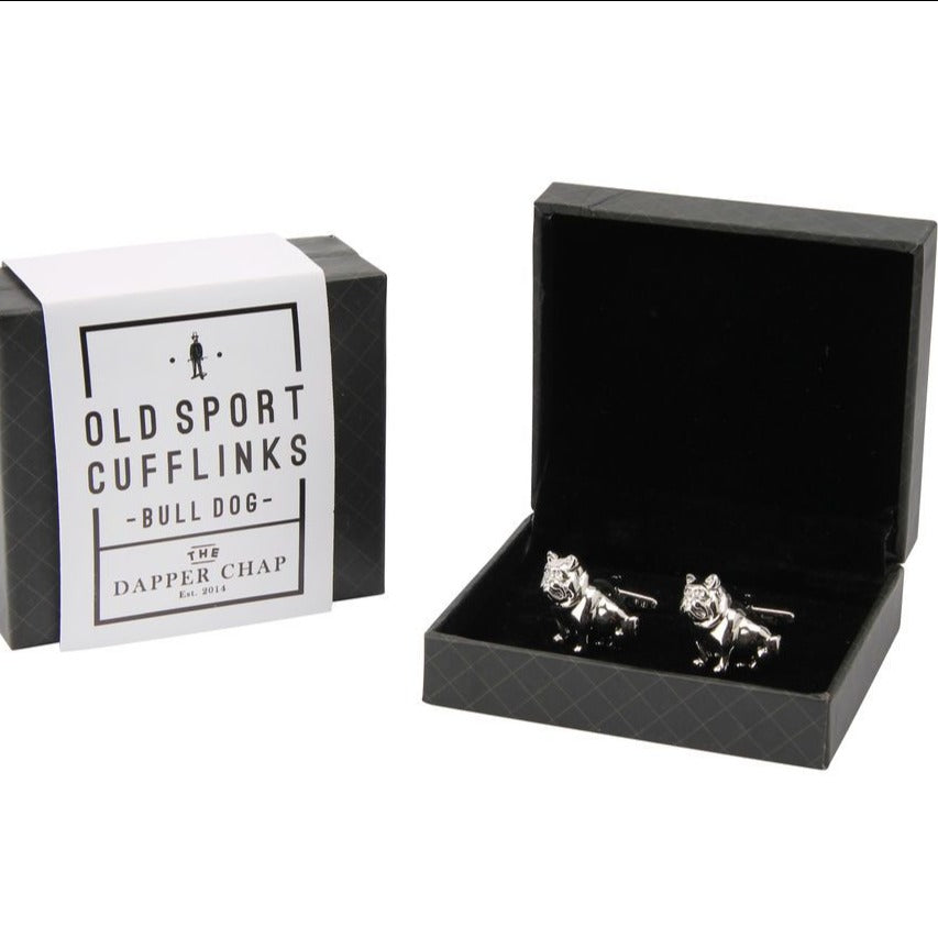 Dapper Chap Bull Dog Old Sport Cufflinks
