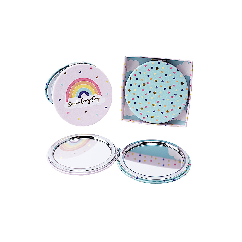 Chasing Rainbows 'Smile Everyday' Compact Mirror
