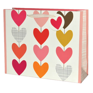12 Multi Hearts Large Gift Bag