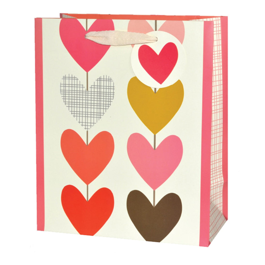 8 Multi Hearts Medium Gift Bag