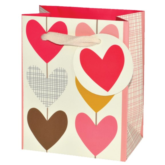 6 Multi Hearts Small Gift Bag
